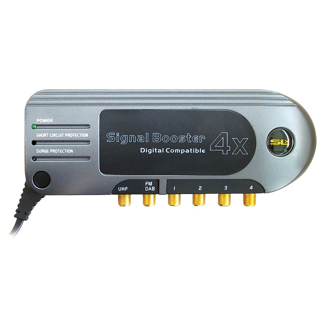 Slx Gold Four Outlet Satellite Distribution Amplifier 4g