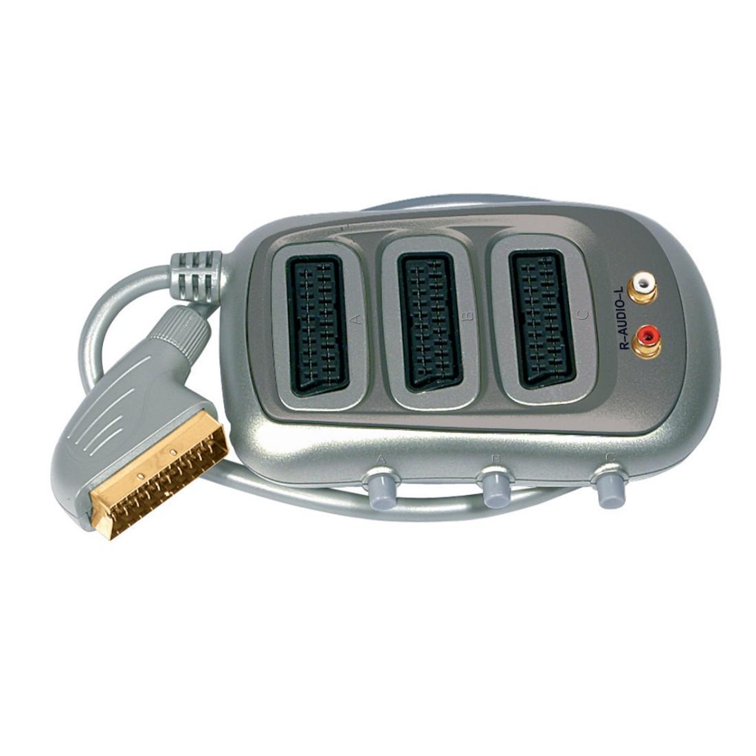 SCART Selectors - SLX AV Selector - 3X SCART/2X Phono