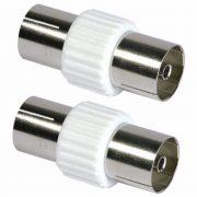 Cable Connectors - PHILEX Coax Coupler - 2 Pack