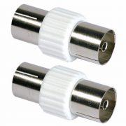 Cable Connectors - PHILEX Coax Coupler - Plastic 2 Pack
