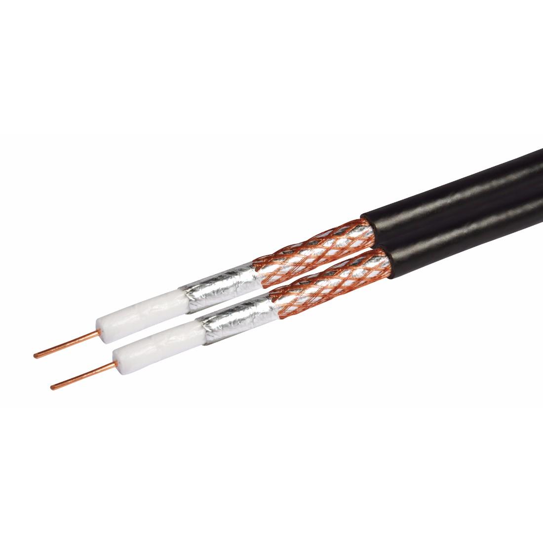 Philex Shotgun RG6 Satellite cable - Black - 125m - Philex ...