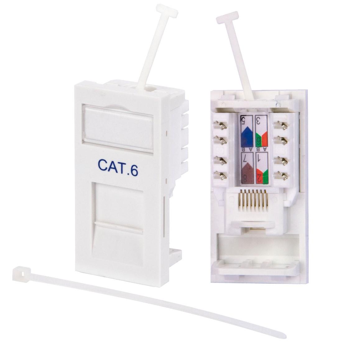 philex rj45 cat6 outlet module white philex. Black Bedroom Furniture Sets. Home Design Ideas