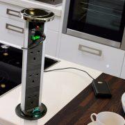PowerPods - Sensiopod 2.5m 3G Black Nickel PowerPod w/USB