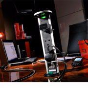 PowerPods - Sensiopod 2.5m 3G Aluminium PowerPod with Network ports