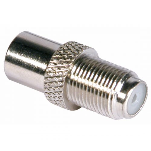 PHILEX F Socket To Coax Plug - Nickel
