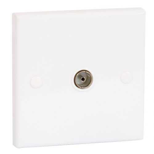 Outlet Plates - PHILEX Coaxial Aerial Socket Plastic