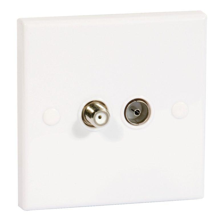 PHILEX Double Flush Outlet F/Coax