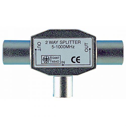 Cable Connectors - PHILEX Coax T Splitter - all metal