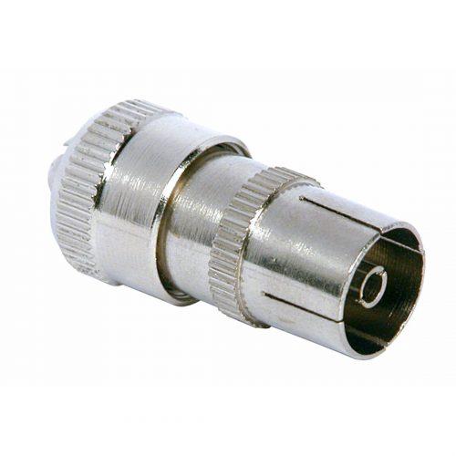 PHILEX Coax Socket - Nickel Plated