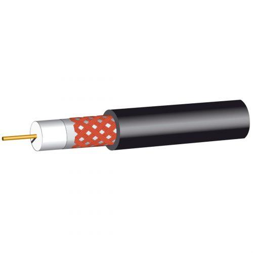 PHILEX Black RG6 satellite cable 75 ohms - 100m