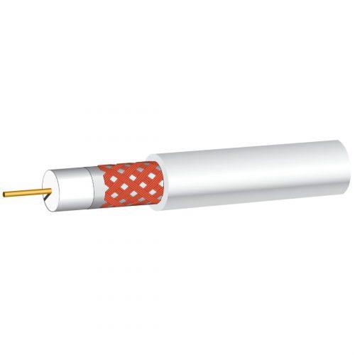Philex White RG6 satellite cable 75 ohms - 100m