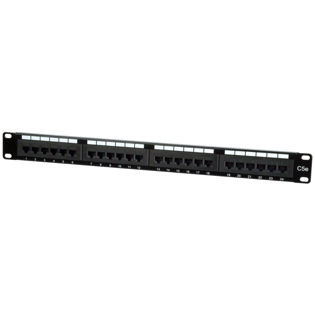 philex 19 u0026quot  1u 24-port utp cat5e patch panel