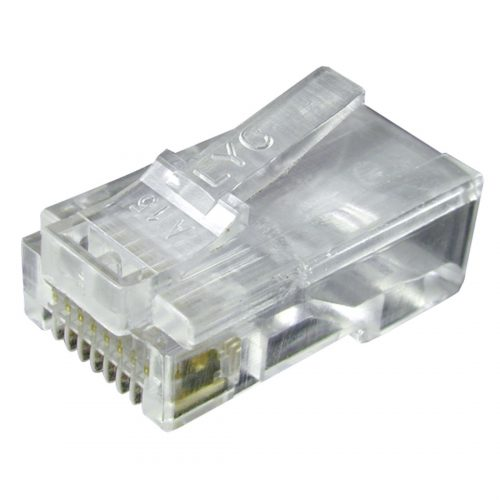 PHILEX RJ45 8p8c Connectors (pack of 100) - Stranded Cable