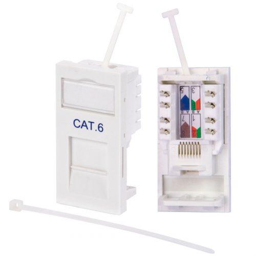 Philex RJ45 CAT6 Outlet Module - White