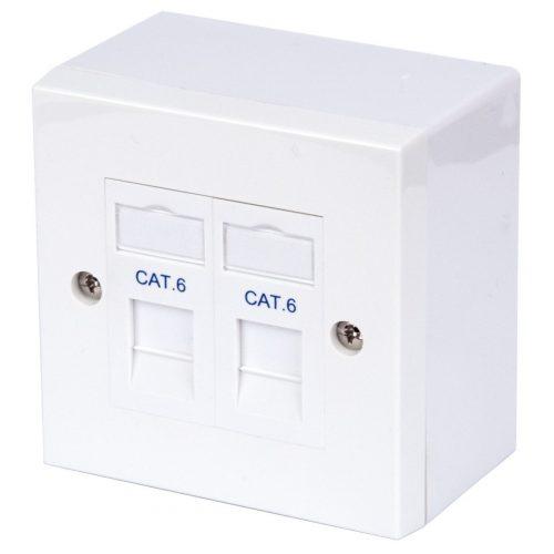 Philex RJ45 CAT6 Twin Outlet Kit