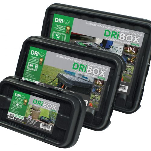 DRiBOX® IP55 Weatherproof Box – Triple Pack Combo - Black