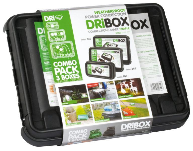 DRiBOX® IP55 Weatherproof Box – Triple Pack Combo - Black