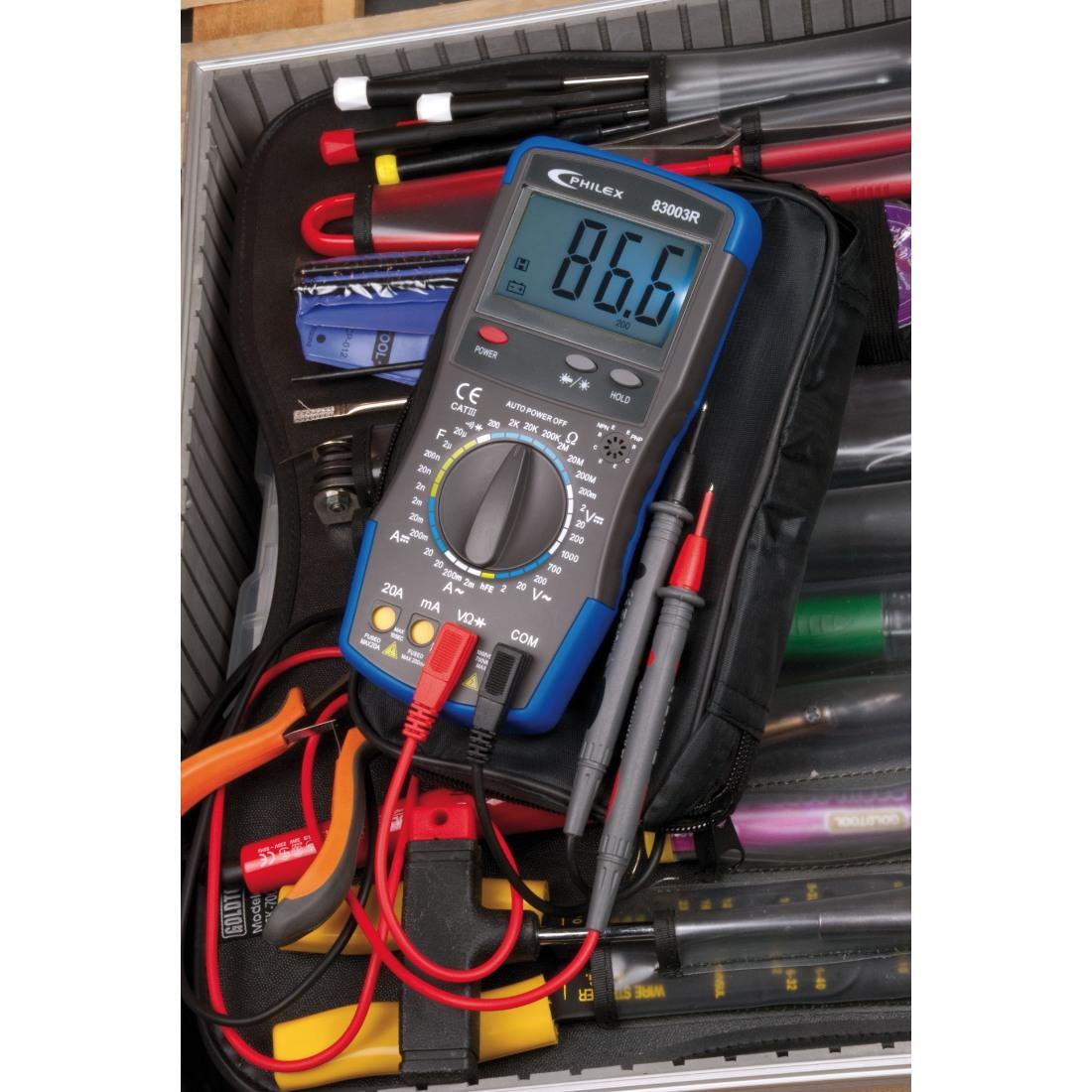 Digital Multimeter 20a 1000v : Philex cat iii a v digital multimeter