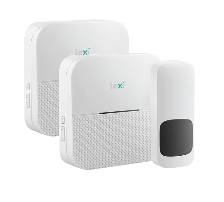 44005PI Twin Wireless Plug-in & Battery Doorbell 1 Transmitter + 2 Receivers