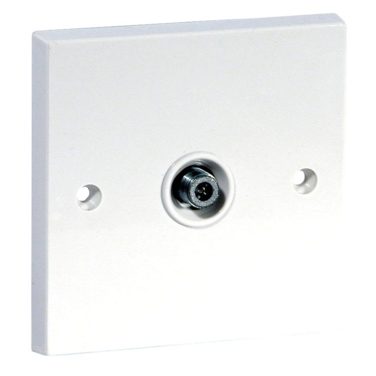 Screened Single F-Type Satellite Outlet