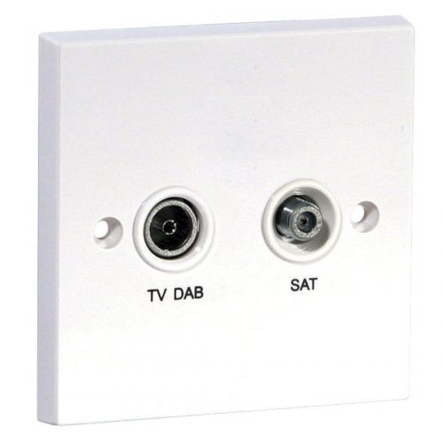 Screened Diplexed Satellite and TV/FM/DAB Outlet