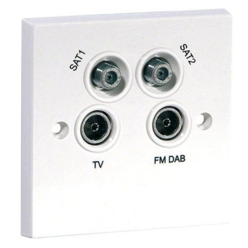 Screened Quadplexed Outlet
