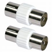 Cable Connectors - PHILEX Coax Coupler - Plastic 2 Pack