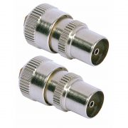 Cable Connectors - PHILEX Coax Plugs - 2 Pack